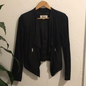 BB Dakota - black faux suede jacket
